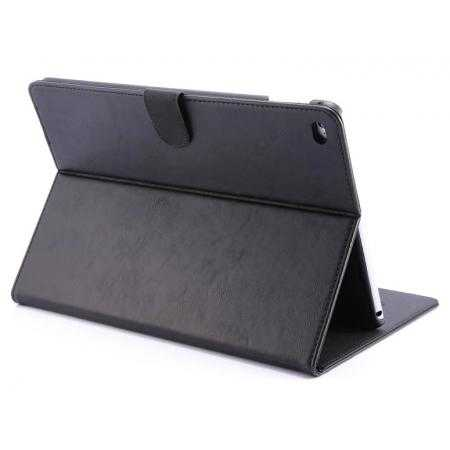 Luxury Vintage Series Leather Stand Case for iPad Air 2 with Sleep/Wake-up Function - Black
