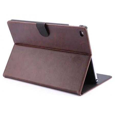 Luxury Vintage Series Leather Stand Case for iPad Air 2 with Sleep/Wake-up Function - Coffee