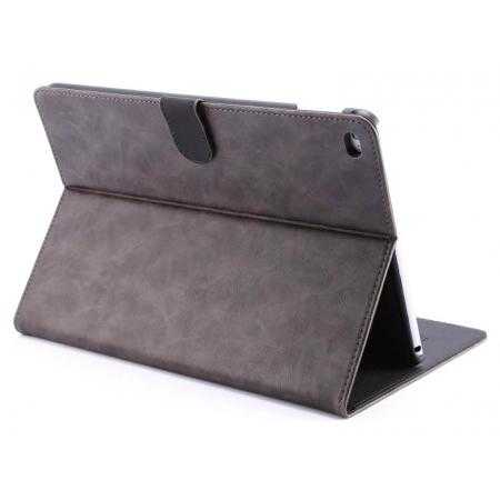 Luxury Vintage Series Leather Stand Case for iPad Air 2 with Sleep/Wake-up Function - Grey