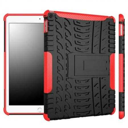 Durable ShockProof Hybrid Hard Stand TPU Case Cover For iPad Air 2 - Red