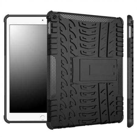 Durable ShockProof Hybrid Hard Stand TPU Case Cover For iPad Air 2 - Black