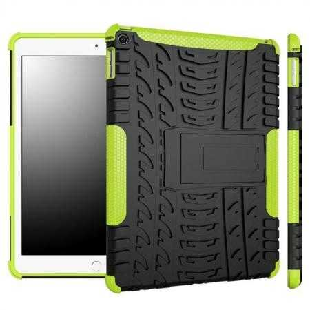 Durable ShockProof Hybrid Hard Stand TPU Case Cover For iPad Air 2 - Green