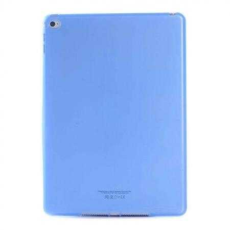 High Quality Matte Frosted Soft Tpu Gel Case Back Cover for iPad Air 2 - Blue