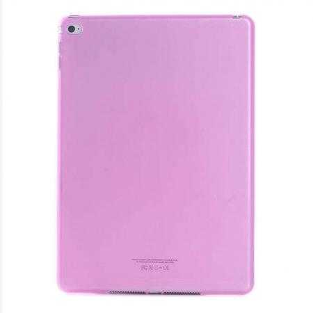 High Quality Matte Frosted Soft Tpu Gel Case Back Cover for iPad Air 2 - Pink