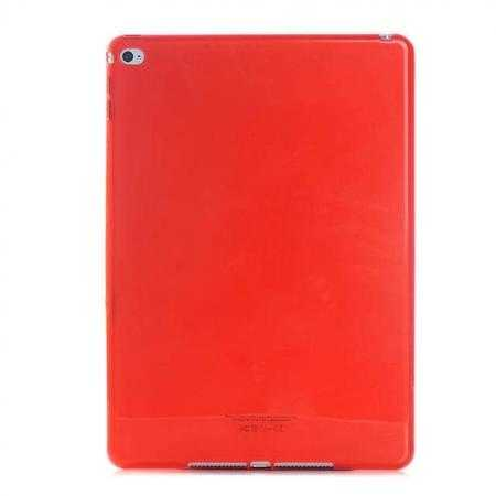 High Quality Matte Frosted Soft Tpu Gel Case Back Cover for iPad Air 2 - Red