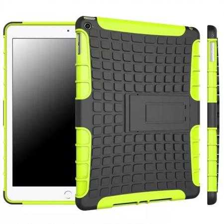 Shockproof TPU Hybrid Hard Kickstand Case Cover For iPad Air 2 - Green