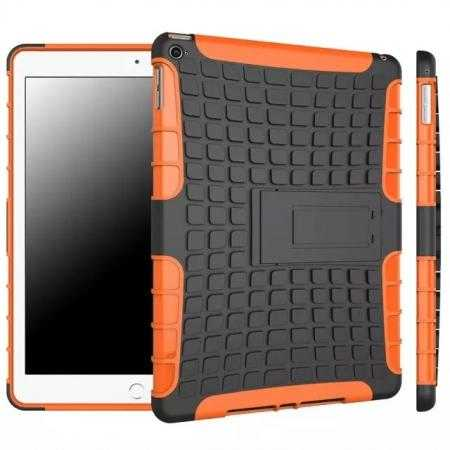Shockproof TPU Hybrid Hard Kickstand Case Cover For iPad Air 2 - Orange