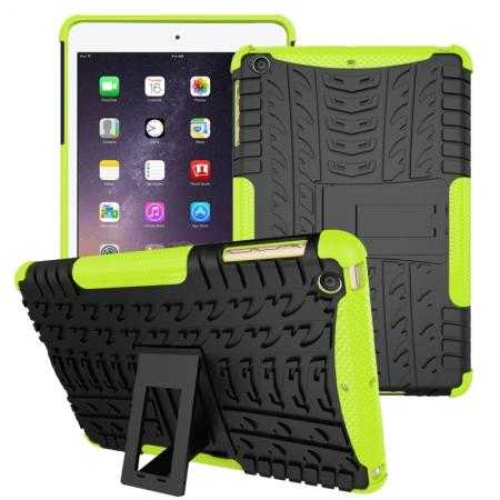 Durable ShockProof Hybrid Hard Stand TPU Case Cover For iPad mini 3/iPad mini 2 - Green