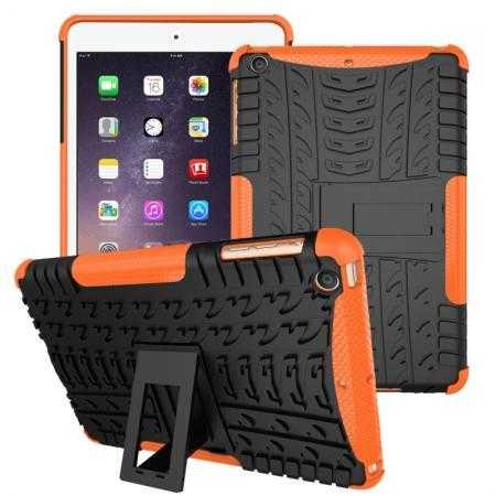 Durable ShockProof Hybrid Hard Stand TPU Case Cover For iPad mini 3/iPad mini 2 - Orange