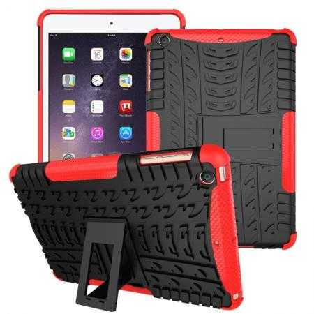 Durable ShockProof Hybrid Hard Stand TPU Case Cover For iPad mini 3/iPad mini 2 - Red
