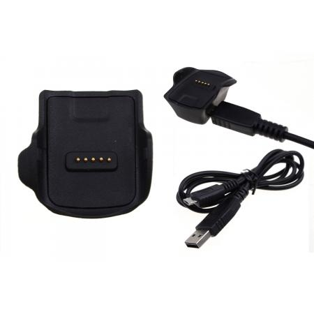 Charging Dock Cradle Power Charger Adapter For Samsung Gear Fit R350 - Black