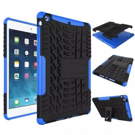 Hyun Pattern Dual Layer Hybrid Protective Case with Stand For iPad AIR/iPad 5 - Blue