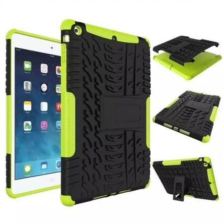 Hyun Pattern Dual Layer Hybrid Protective Case with Stand For iPad AIR/iPad 5 - Green