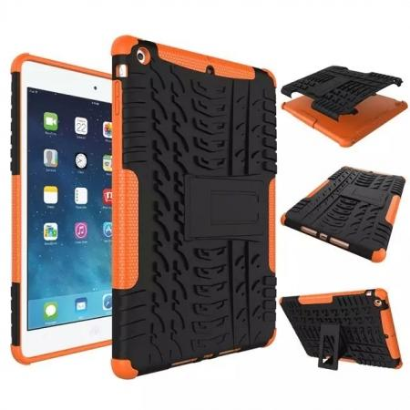 Hyun Pattern Dual Layer Hybrid Protective Case with Stand For iPad AIR/iPad 5 - Orange