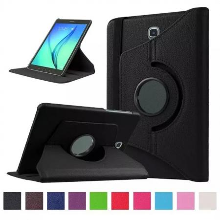 360 Degrees Rotating Stand Leather Case For Samsung Galaxy Tab S2 8.0 T715 - Black