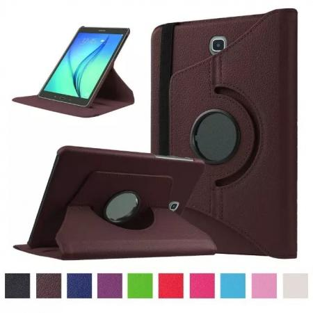 360 Degrees Rotating Stand Leather Case For Samsung Galaxy Tab S2 8.0 T715 - Brown