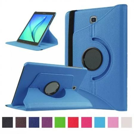 360 Degrees Rotating Stand Leather Case For Samsung Galaxy Tab S2 8.0 T715 - Light blue