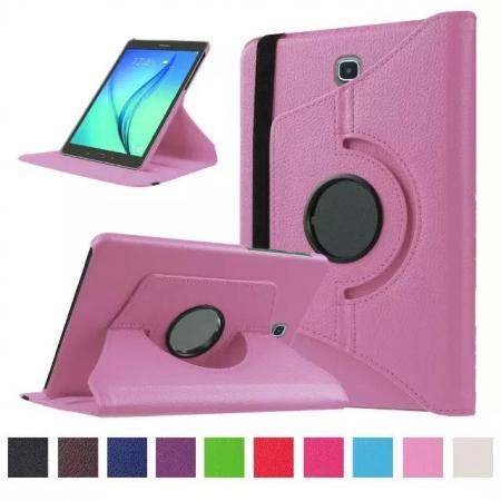 360 Degrees Rotating Stand Leather Case For Samsung Galaxy Tab S2 8.0 T715 - Pink