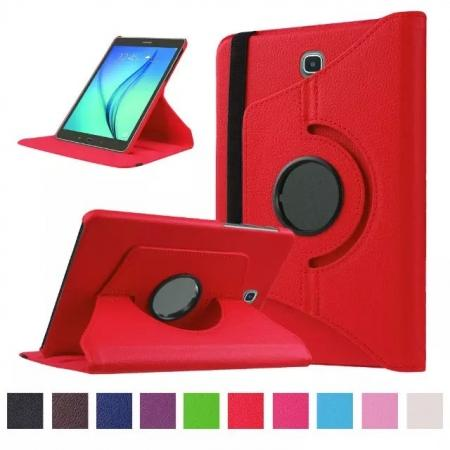 360 Degrees Rotating Stand Leather Case For Samsung Galaxy Tab S2 8.0 T715 - Red