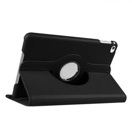 360 Degrees Rotating Smart Stand Leather Case For iPad mini 4 - Black