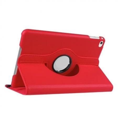 360 Degrees Rotating Smart Stand Leather Case For iPad mini 4 - Red