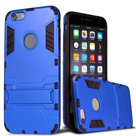 Hybrid Dual Layer Armor Shockproof Case with Stand For iPhone 6 4.7inch - Blue