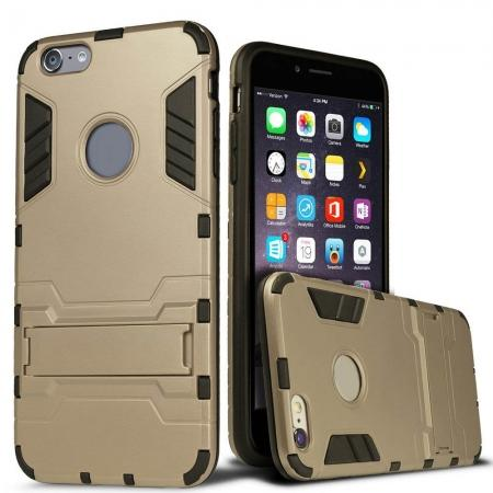 Hybrid Dual Layer Armor Shockproof Case with Stand For iPhone 6 4.7inch - Gold