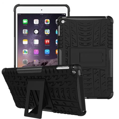 Hyun Pattern Dual Layer Hybrid ShockProof Case Cover For iPad mini 4 - Black