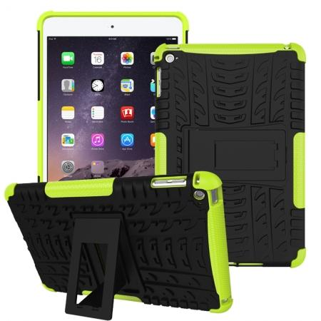 Hyun Pattern Dual Layer Hybrid ShockProof Case Cover For iPad mini 4 - Green