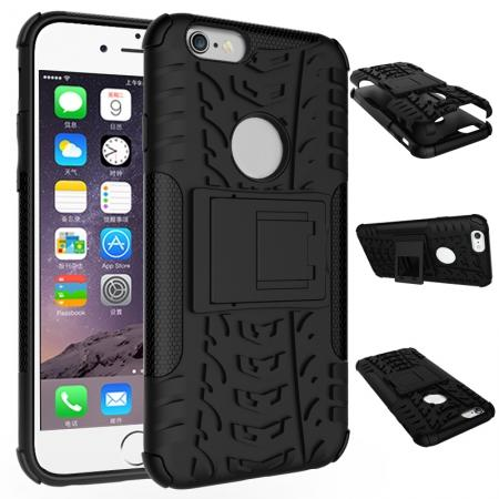 Hyun Pattern Dual Layer Hybrid Shockproof Case Cover for iPhone 6s - Black