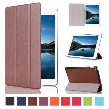 Ultra thin Smart 3-Folding Stand Leather Case For iPad mini 4 - Brown