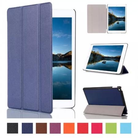 Ultra thin Smart 3-Folding Stand Leather Case For iPad mini 4 - Dark blue
