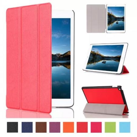Ultra thin Smart 3-Folding Stand Leather Case For iPad mini 4 - Red