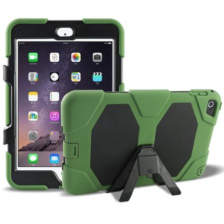 Rugged Dual Layer ShockProof Protect Case Cover For iPad mini 4 - Army Green