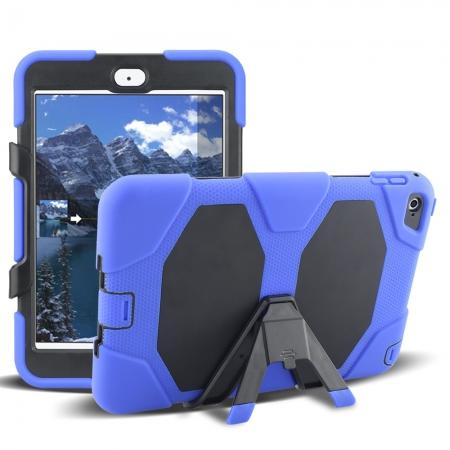 Rugged Dual Layer ShockProof Protect Case Cover For iPad mini 4 - Blue