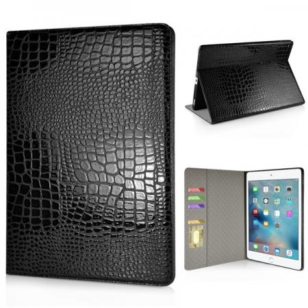 Alligator Pattern Flip Stand Leather Case For iPad Pro 12.9 inch With Card Slots - Black