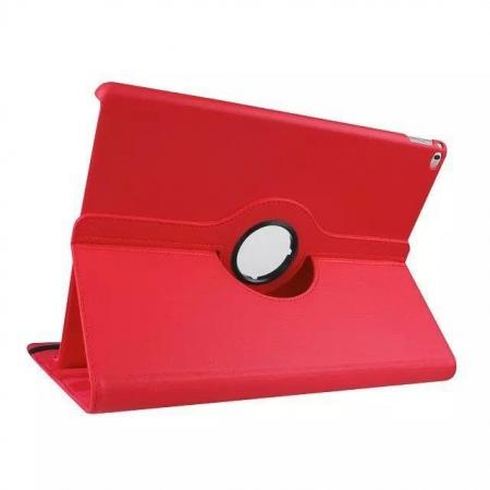 Litchi Grain 360 Rotate Flip Stand PU Leather Tablet Cover Case For iPad Pro 12.9 Inch - Red
