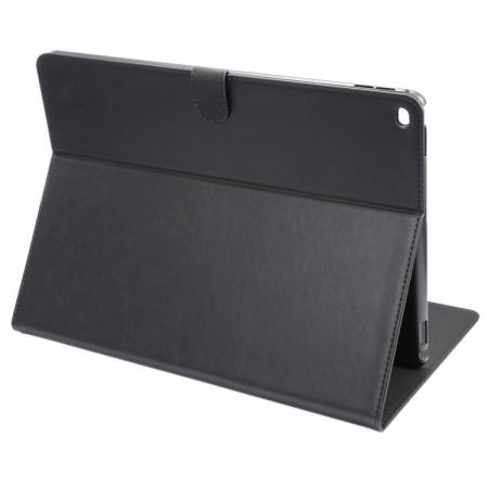 Luxury Crazy Horse Leather Stand Cover Case Card Holder for iPad Pro 12.9inch - Black