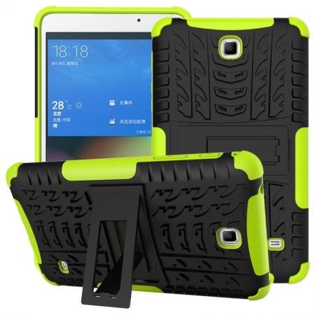 Rugged Hybrid Dual Layer Case with Kickstand for Samsung Galaxy Tab 4 7.0 T230 - Green