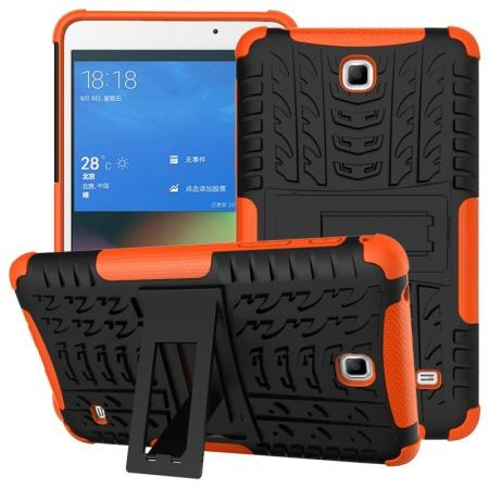 Rugged Hybrid Dual Layer Case with Kickstand for Samsung Galaxy Tab 4 7.0 T230 - Orange