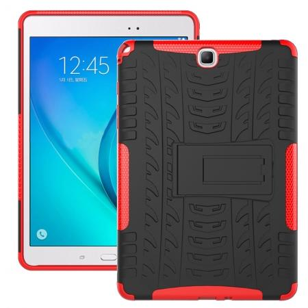 Shockproof Dual Layer Hybrid Kickstand Case For Samsung Galaxy Tab A 9.7 T550 - Red