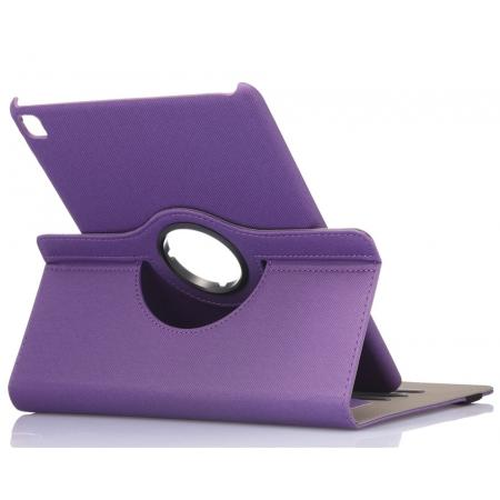 360 Degree Rotating Folio Jeans Cloth Skin PU Leather Case for 9.7-inch iPad Pro - Purple
