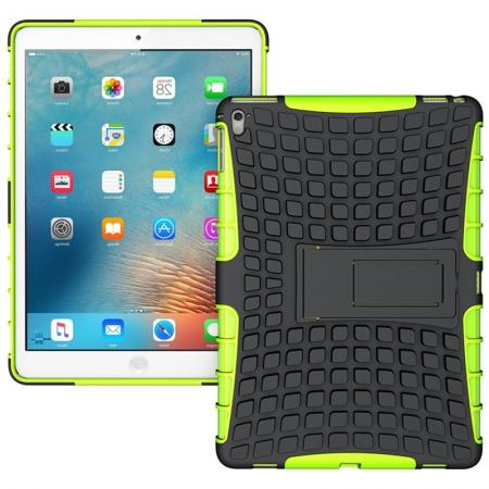 Heavy Duty Dual Layer Hybrid ShockProof Case Cover with Kickstand For iPad Pro 9.7inch - Green