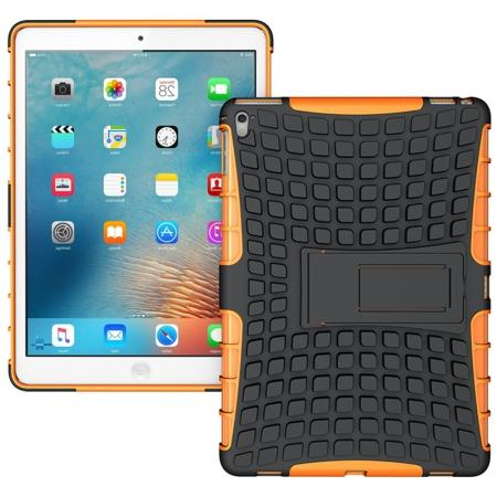 Heavy Duty Dual Layer Hybrid ShockProof Case Cover with Kickstand For iPad Pro 9.7inch - Orange