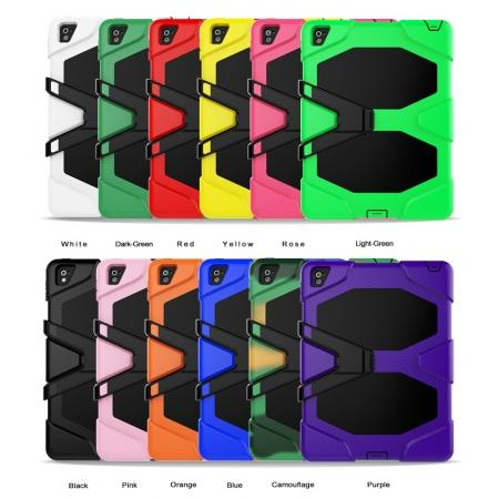 Heavy Duty Hybrid Dual Layer Shockproof Armor Stand Cover Case For iPad Pro 9.7inch