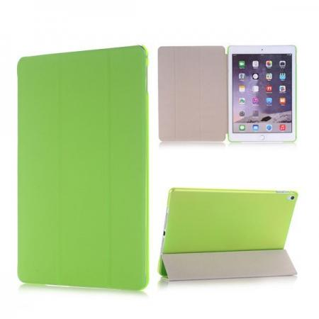 Ultra-Slim Transparent Plastic And PU Leather Smart Cover for iPad Pro 9.7 inch  - Green