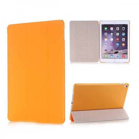 Ultra-Slim Transparent Plastic And PU Leather Smart Cover for iPad Pro 9.7 inch  - Orange