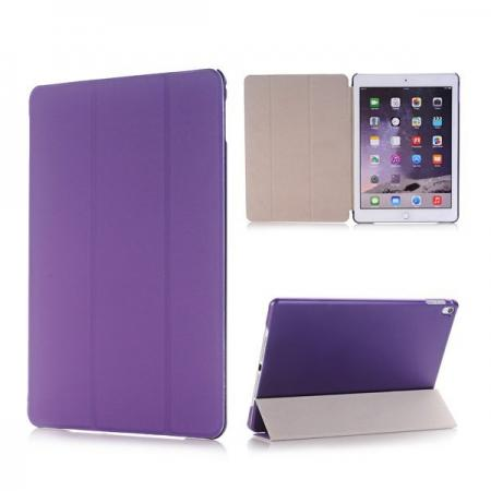 Ultra-Slim Transparent Plastic And PU Leather Smart Cover for iPad Pro 9.7 inch  - Purple