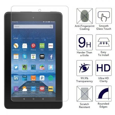 "9H Hardness Anti-Scratch HD Tempered Glass Screen Protector For Amazon Fire 7"" 2015"