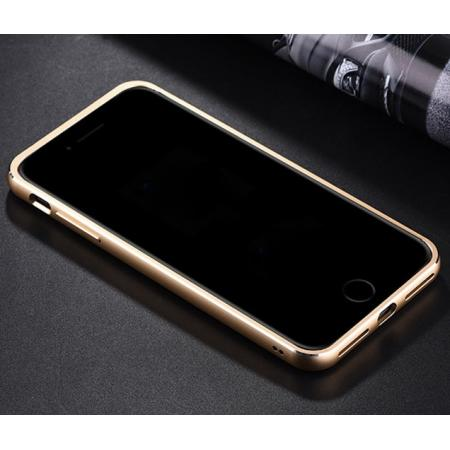 the latest d1740 dc302 Aluminum Metal Bumper Frame+Genuine Leather Case Stand Cover For iPhone 7  4.7 inch - Silver&Black